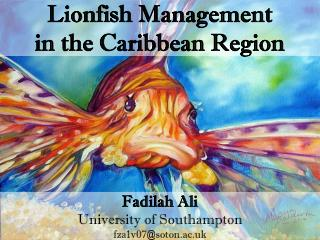 Lionfish Management  in the Caribbean Region