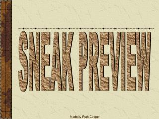 SNEAK PREVIEW