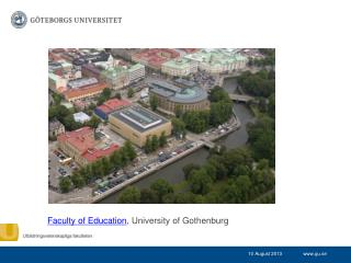 Faculty of Education , University of Gothenburg