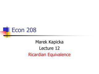 Econ 208