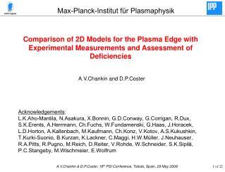 Max-Planck-Institut f ür Plasmaphysik