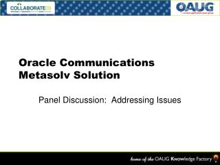 Oracle Communications Metasolv Solution