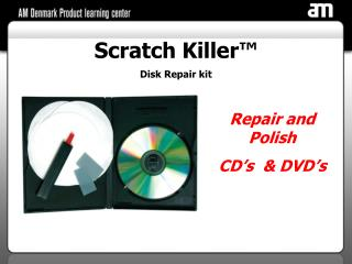 Scratch Killer™ Disk Repair kit