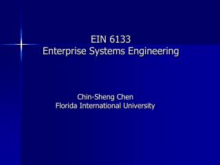 EIN 6133 Enterprise Systems Engineering