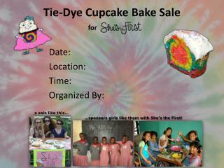 Tie-Dye Cupcake Bake Sale