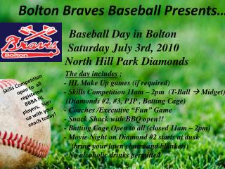 Bolton Braves Baseball Registration