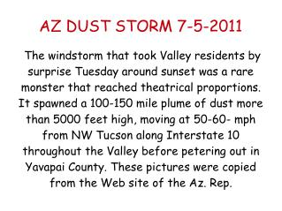 AZ DUST STORM 7-5-2011