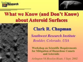What we Know (and Don�t Know) about Asteroid Surfaces