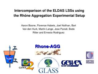Intercomparison of the ELDAS LSSs using the Rhône Aggregation Experimental Setup