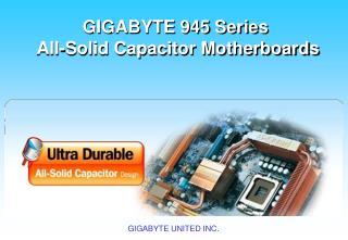 技嘉  945 系列全固態電容主機板