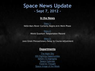 Space News Update - Sept 7, 2012 -