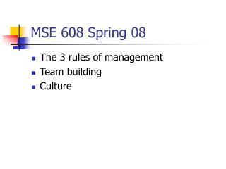 MSE 608 Spring 08