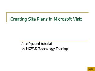 Creating Site Plans in Microsoft Visio