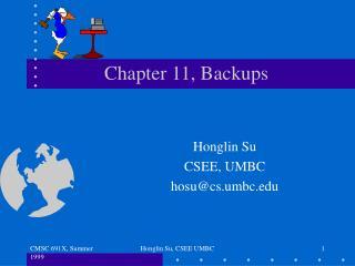 Chapter 11, Backups
