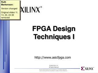 FPGA Design Techniques I