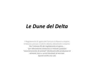 Le Dune del Delta