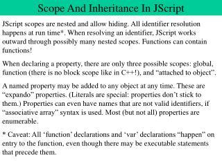 Scope And Inheritance In JScript