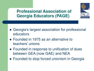 Professional Association of Georgia Educators (PAGE)