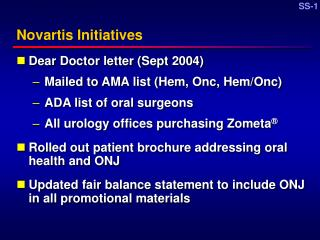 Novartis Initiatives