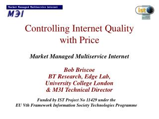 Controlling Internet Quality  with Price