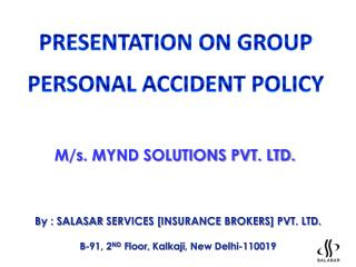 By : SALASAR  SERVICES [INSURANCE BROKERS] PVT. LTD.