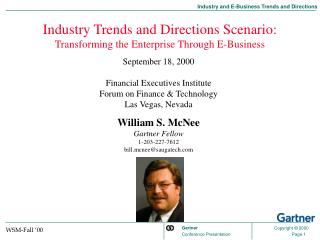 Industry Trends and Directions Scenario: Transforming the Enterprise Through E-Business