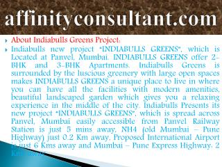 Greens INFO +91-9999684955 Greens Projects Panvel !Indiabull