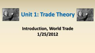 Unit 1: Trade Theory