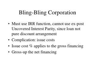 Bling-Bling Corporation