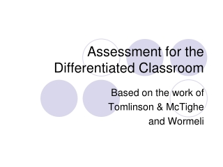 Fair Authentic Assessment: Best Practices in Supporting the ...