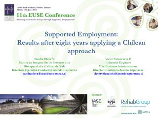 Supported Employment:  Results  after eight  years applying  a  Chilean  approach