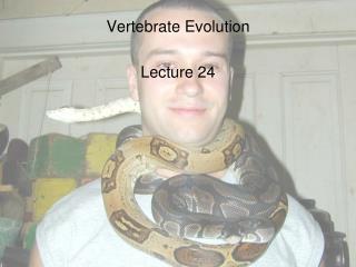 Vertebrate Evolution Lecture 24