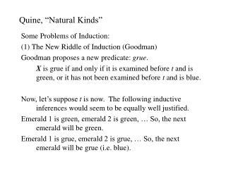 "Quine, ""Natural Kinds"""
