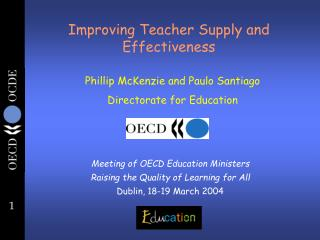 Improving Teacher Supply and Effectiveness