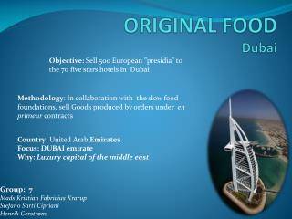 ORIGINAL FOOD Dubai