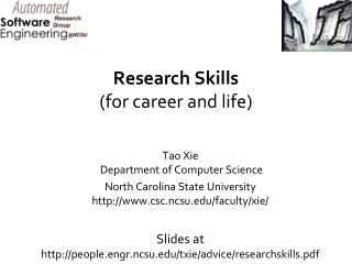 Research Skills  for career and life