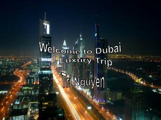 Welcome to Dubai     Luxury Trip