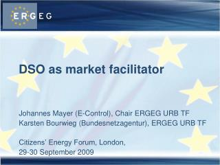 DSO as market facilitator