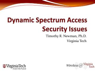 Dynamic Spectrum Access Security Issues