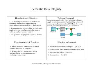 Semantic Data Integrity