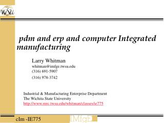 pdm and erp and computer Integrated manufacturing