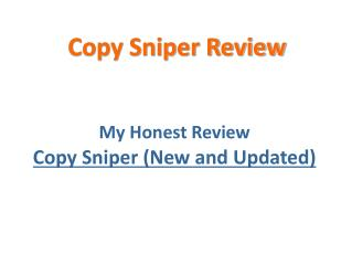 Copy Sniper Review - Check out Copy Sniper