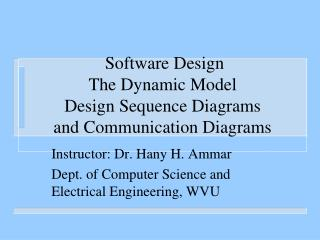 Software Design The Dynamic Model Design Sequence Diagrams  and Communication Diagrams