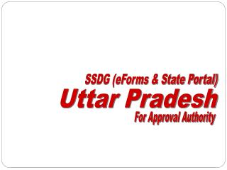 SSDG (eForms & State Portal)