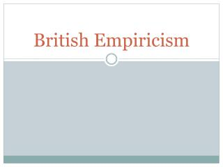British Empiricism
