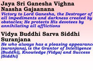 0067 Ver06 Jaya Sri Ganesha Vighna Naasha Gajaanana Vidya Buddhi Sarva