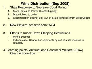 Wine Distribution (Sep 2008)