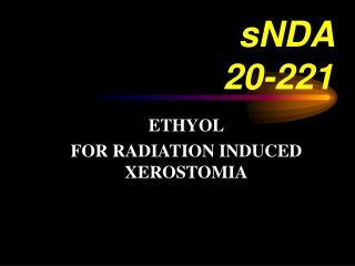 sNDA  20-221
