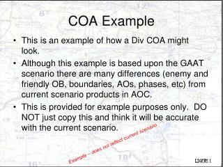 COA Example