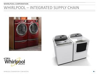 WHIRLPOOL – Integrated Supply Chain